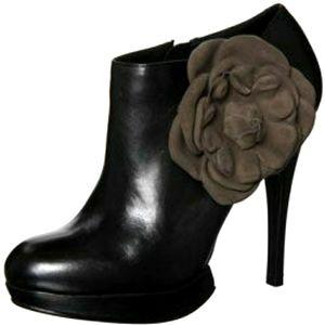 Kelsi Dagger Black Rosabella Stiletto Ankle Boots